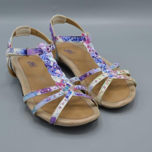 JBU Jambu Azalea Purple Floral Sandals with Box 7M